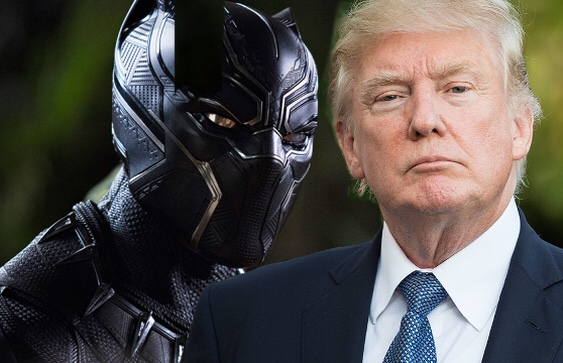 Trump and T'Challa, because it's never Actually gonna happen.