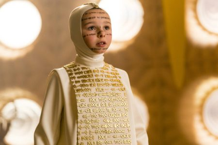 Ona from 'Krypton' dressed in Word of Rao garb.